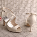 Wedding Off White Brautjungfer Schuhe Sandalen