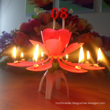 music candle with flower tier/