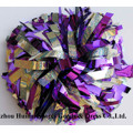 Cheerleading POM Poms: Holo Silver Mix Purple