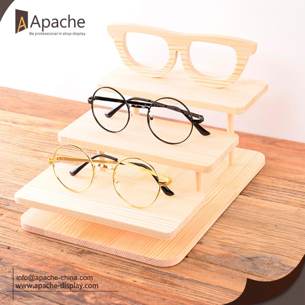 Wooden Eyeglasses Counter Display For Eyewear Shop