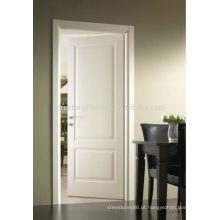 Porta de madeira pintada branca do artesão para o quarto de hotel
