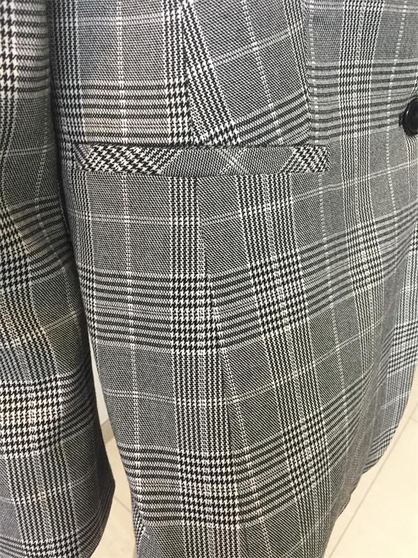 Check Suit for Spring Autumn