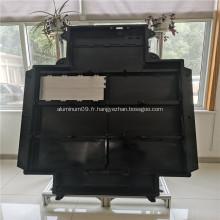 Plateau de batterie Optima en aluminium billette noir