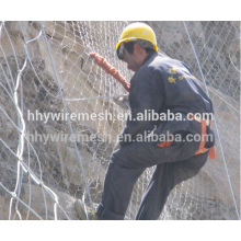 Cheap price hand made weave steel rope net rockfall netting SNS active slope protection system