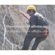 Preço barato feito à mão tecer corda de aço net rede de rockfall SNS sistema de proteção de inclinação ativa
