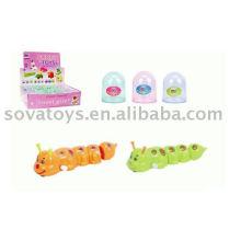 Enrolar inseto brinquedos lagarta