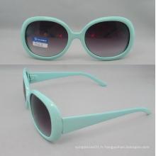 Lunettes de soleil en plastique de mode en plastique P01011