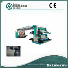 Máquina de impresión tejida de la flexografía de 4 colores PP (CH884-1200W)