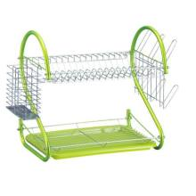 2 Tier Dish Rack With Cup Holder
