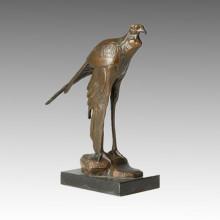Tier Bronze Skulptur Vogel Carving Deko Messing Statue Tpal-157