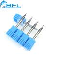 Fraises en bout micro plates de carbure de tungstène BFL D0.3 * FL0.6 * D4 * 50L * 2F