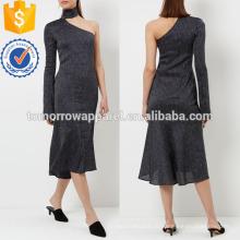Военно-морской флот в тонкую полоску на одно плечо платье Производство Оптовая продажа женской одежды (TA4051D)