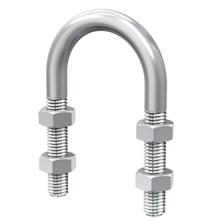 Les boulons en U plaqués par zinc adaptés aux besoins du client d'acier inoxydable galvanisent le boulon fileté d'acier inoxydable de boulon fileté