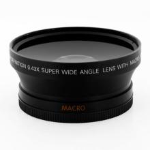 Lente macro do ângulo largo de 62mm 0.43X UV82 para a objetiva da câmera de Canon EOS Nikon