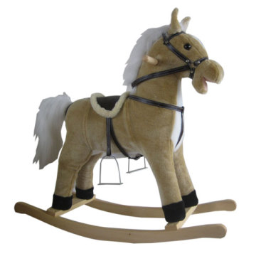Bottom price for Best Plush Rocking Horses, Animal Rocking Horses, Baby Plush Rocking Horse, Plush Motorized Animal Manufacturer in China Baby rocking horse LXRH-001 export to Tajikistan Factory