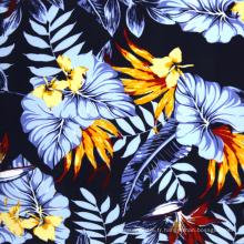 100% viscose tissu rayonne imprimé hawaii en gros
