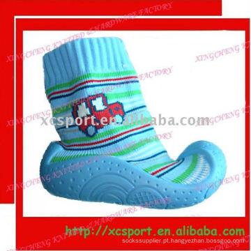 Borracha Outsole bebê Sock Shoe
