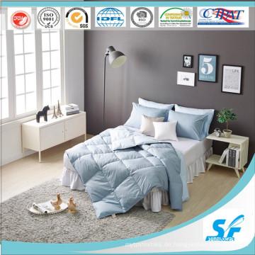 Soild Printing Gänsefeder-Steppdecke für Korea Home Bedding