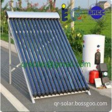 18 tubes water heating solar collector system