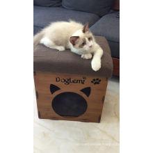 2017 DogLemi Neu Patentiertes Produkt haus stuhl Holz Haustier Katze Bett
