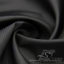 Imperméable à l'eau et à l'extérieur Vêtements de sport en plein air Veste en coton Tissé en diamant tissé Jacquard 100% Tissu en polyester (53082)