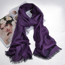 Silk&Cashmere Blended Luxury Herringbone Scarf (12-BR290107-1.4)