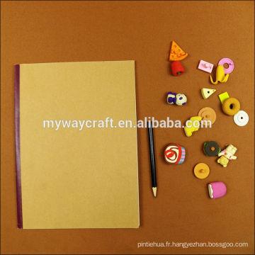 Custom logo a5 collé collier bloc-notes recyclé bloc-notes personnalisé