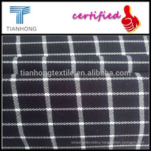 Customized Hot-sell Checks Printing Spandex/Cotton Blended Fabrics for Women Skirts