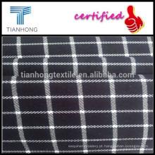 Verificações de quente-venda personalizadas impressão algodão/Spandex misturaram de tecidos para as saias das mulheres