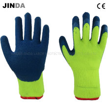 Terry Shell Latex Coated Crinkle Finish Industrial Labor Protective Safety Gloves (LS701)
