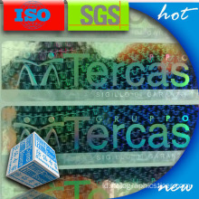 Stiker Label Hologram PET yang Aman 3D