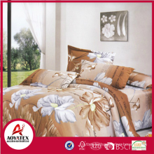 100% polyester girls polyester print bedding set,high quality disposable bed sheet