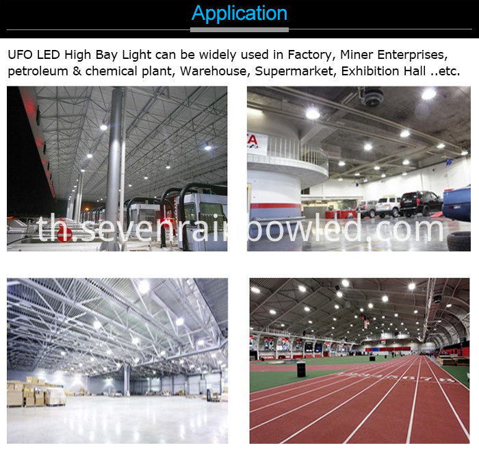 100W Warehouse High Bay Lights Application