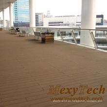Balcón WPC compuesto suelo de madera, estilo económico