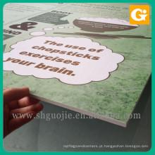 Contexto feito sob encomenda da placa de propaganda das formas do cartão