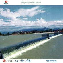 Nouveau barrage gonflable en caoutchouc conçu comme paysage dans la ville