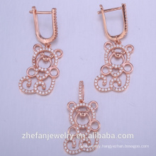 animal cute jewelry set wholesale chinese manufacture 925 sterling silver wedding sets