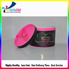 Rose Red&Black Cosmetic Box/Cosmetic Paper Box/Cosmetic Round Box