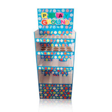 Colorful Floor Display Stand for Toys, POS Cardboard Display Shelves