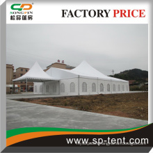 luxury marquee tent with glass door used for wedding and meeting