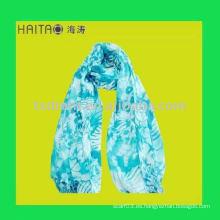 Mantón viscosa azul largo de la bufanda de las señoras de la nueva manera con la impresión en color del sevral