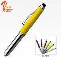 Beliebte Design Metall Kugelschreiber mit LED Licht und Stylus