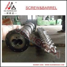Turkey Mikrosan parallel twin screw barrel for PVC pipe profile masterbatch pelletizing granules  MCV 75/25D, MCV 90/26D
