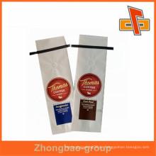 Embalaje de alimentos de calidad excelente, bolsa de papel kraft blanco para envasado de café