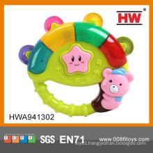 Wholesale Plastic Tambourine Baby Cartoon Rock Bell With Light