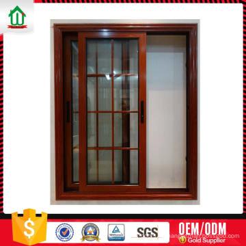 Diseño de moda Diseño personalizado Diseño de aluminio Ventana deslizante vertical Diseño de moda Diseño personalizado de aluminio Ventana deslizante vertical