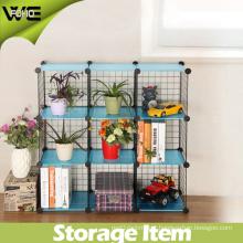 DIY Storage Cube Shelfs Iron Metal Rack for Flowers