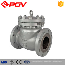 high quality POV Shanghai flange type ductile iron check valve swing