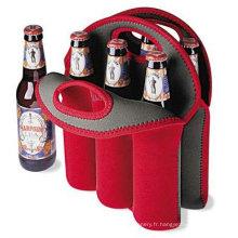 Refroidisseur de bouteille de bouteille de Neoprene 6-pack