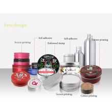 Divers pot de crème cosmétique en aluminium d'impression (NAL03)